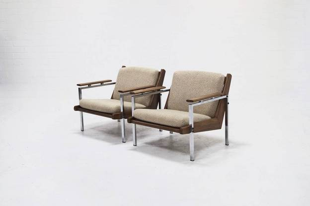 Mid-Century Rob Parry 'Lotus' Arm Chairs by Gelderland 1960's