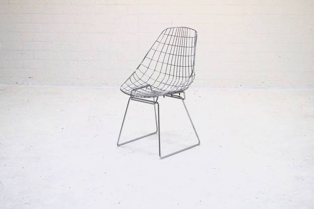 Pastoe SM05 Wire Chair by Cees Braakman and A. Dekker 1950s