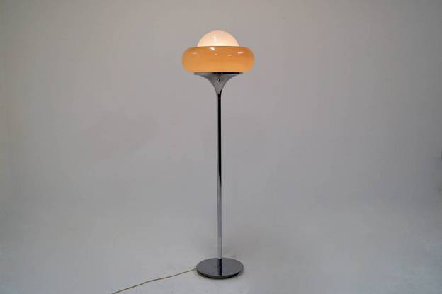 Harvey Guzzini Floor Lamp Italian Design, 1960's