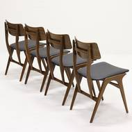 Set of 4 Teak Dining Chairs by Louis van Teeffelen for Wébé, 1960s