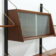 Teak Wall Unit by Louis van Teeffelen for WeBe 1950's