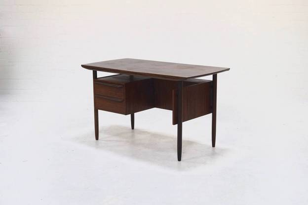 Mid-Century Teak Cow Horn Desk from Tijsseling, 1950's
