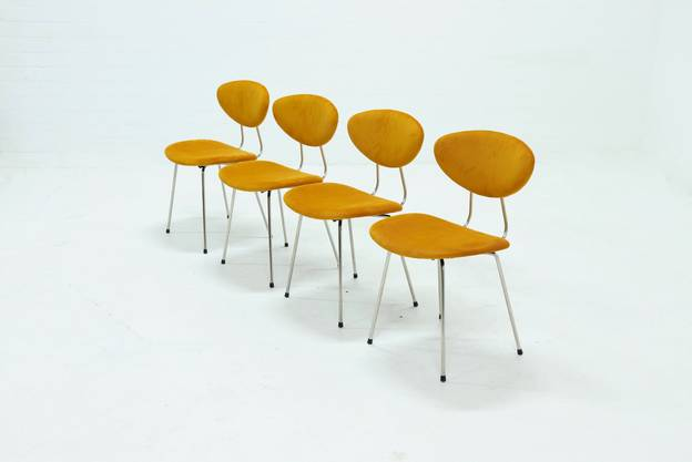 Set of 4 Dining Chairs by Rudolf Wolf for Elsrijk 1950s