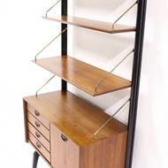 Mid Century Teak Wall Unit by Louis van Teeffelen for WeBe 1950's