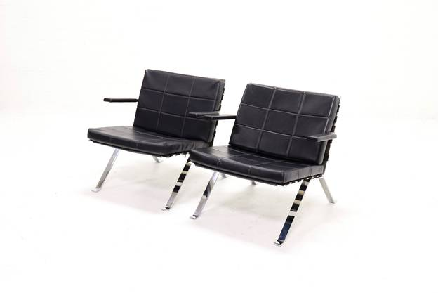 Set of 2 Lounge Chairs by Hans Eichenberger for Girsberger 1960s