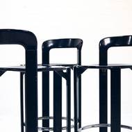 Set of 3 Bar Stools by Bruno Rey for Dietiker Swiss 1970's