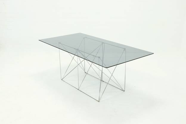 Mid Century Minimalist Dining Table by Max Sauze 1970s