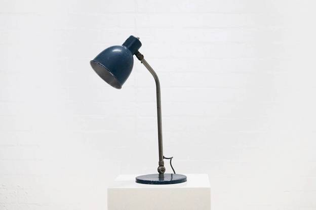 Industrial Patinated Metal Desk Lamp 1950s