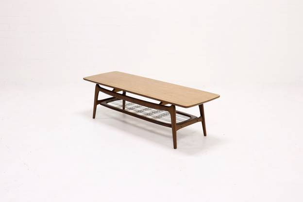 Sculptural Teak Coffee Table by Louis van Teeffelen for WeBe 1950's