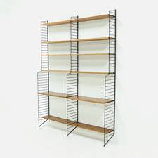 Modular Teak Shelving Unit by Nils Strinning for String AB SWeden 1960s