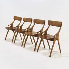 Set of 4 Dining Chairs by Hovmand Olsen for Mogens Kold 1950's