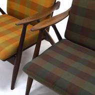 Set of 2 Teak Lounge Chairs by Ster Gelderland, 1960's
