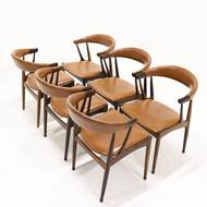 Set of 6 BA113 Rosewood Dining Chairs by Johannes Andersen 1960s