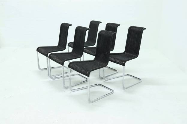 Set of 6 B20 dining chairs by Axel Bruchhäuser for Tecta, 1980s