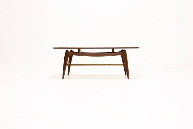 Teak Coffee Table by Louis van Teeffelen for WeBe 1950's