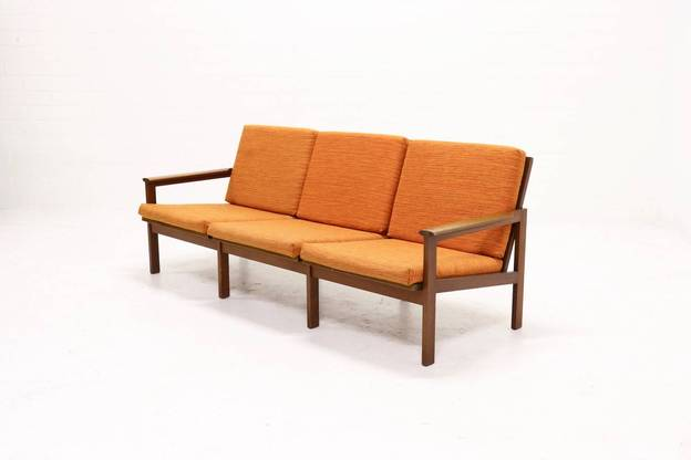 Teak 3-Seater Capella Sofa by Illum Wikkelso for N. Eilersen, 1960s