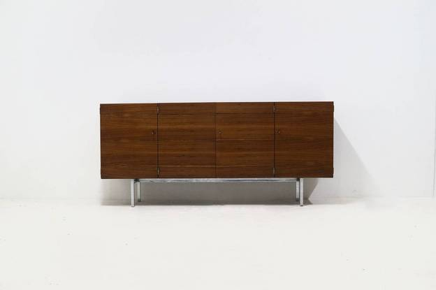 Rare Rosewood Sideboard by Herbert Hirche for Holzäpfel KG 1960's