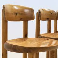 Set of 4 Rainer Daumiller Pine chairs by Hirtshal Sawmill, 1970's