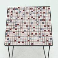 Mid Century Mosaic Side Table with Hairpin Legs 1950s