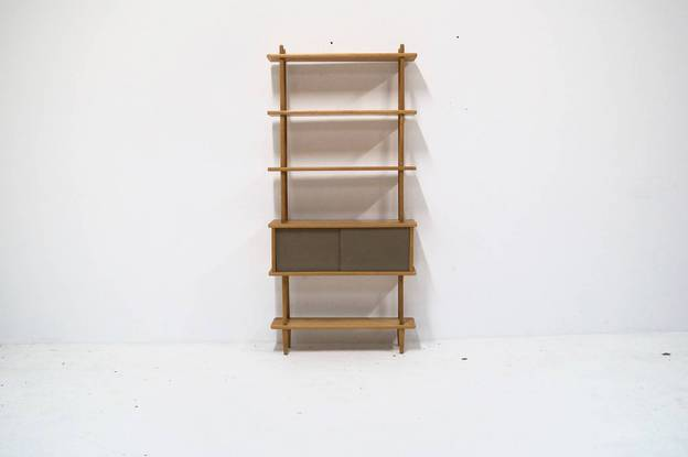 Mid Century Free standing Wall unit in Birch 1960's