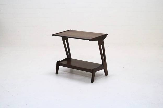 Vintage Teak Side Table Deens Design