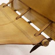 Pine and Leather Safari Chair by Karin Mobring for IKEA 1970s