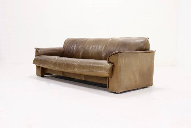 Neck Leather Leolux 3-Seater Sofa by Hugo de Ruiter, 1970s
