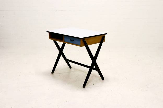Mid Century Writing Desk by Coen de Vries for Devo Den Haag, 1950s