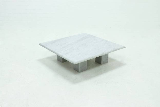 Italian Modern Arabescato Marble Coffee Table 1970s
