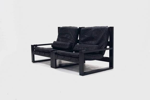 Brutalist Sonja Wasseur Two-Seater Lounge Chair, 1970's