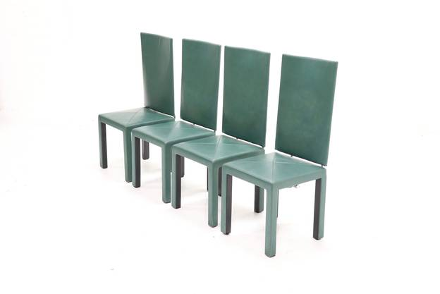Set of 4 Arcara dining chairs by Paolo Piva for B&B Italia, 1980s