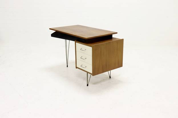 Mid-Century Hairpin Desk by Cees Braakman for Pastoe 1950's