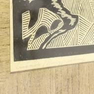 Decorative 'Eagle' Signed and Limited Linocut by F. Bose, Netherlands 1920S