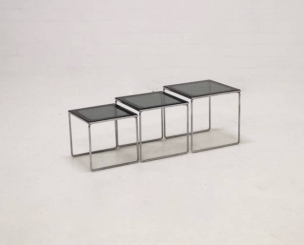 Set of 3 Nesting tables 1960's