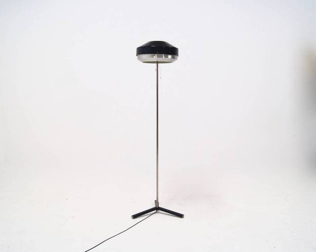 Niek Hiemstra Evolux Floor Lamp Dutch Design, 1950's
