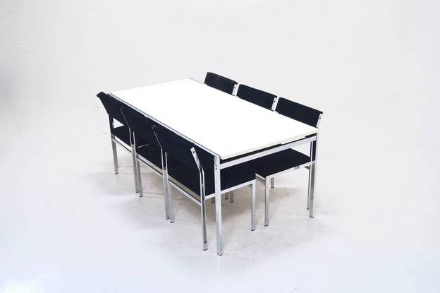 Japanese Series Dining Set by Cees Braakman for Pastoe, 1970's