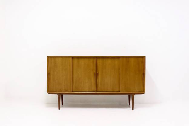 Teak Highboard by Gunni Omann for Omann Jun, 1960s