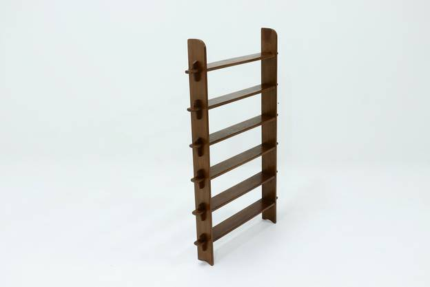 Constructivist Wooden Free Standing shelving Unit 1960s