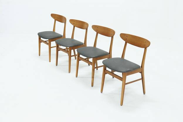 Set of 4 Model 210 Dining Chairs by Farstrup Møbler Danish Design 1960s