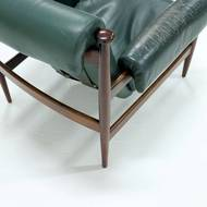 Eric Merthen Rosewood Amiral Easy Chair by Ire Möbler Sweden 1960s