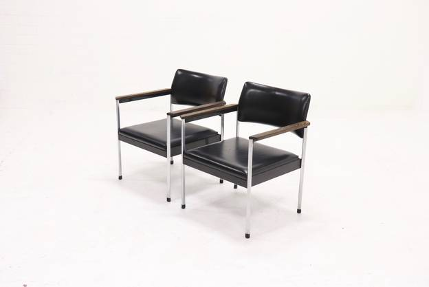 Set of 2 Kho Liang le Model 440 Armchairs by C.A. Ruigrok 1960s