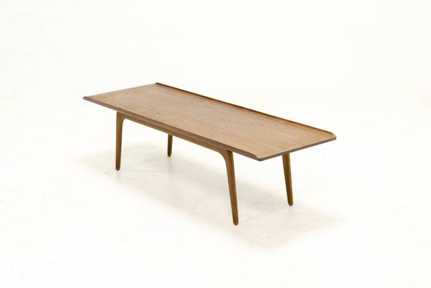 Teak and Oak Coffee table by Aksel Madsen Bender for Bovenkamp, 1960s