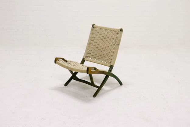 Mid Century Folding Rope Chair by Ebert Wels 1960's