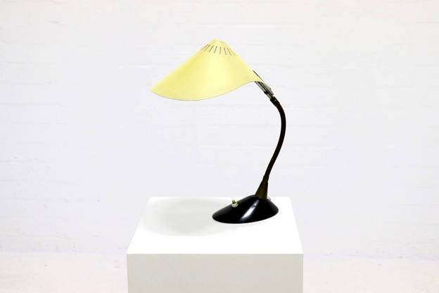 Mid Century Cosack Leuchten Desk Lamp with Metal Shade, 1950's