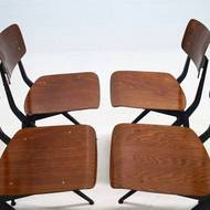 Set of 4 Industrial Design Chairs by Ynske Kooistra for Marko Holland, 1960s