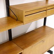 Free Standing Teak Royal System Wall Unit by Poul Cadovius, 1960's