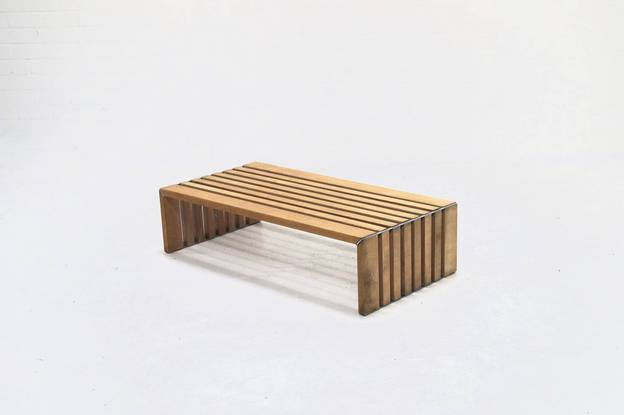 Mid Century Slat Bench by Walter Antonis for Arspect 1970's
