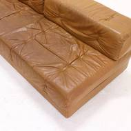Wittmann Atrium Modular Seating Group Daybed in Cognac Leather 1970s