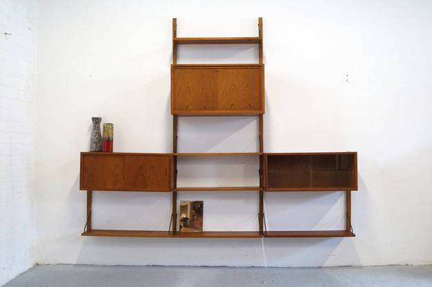 Vintage Royal System Poul Cadovius wall unit