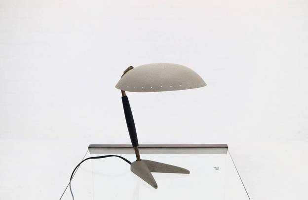 Mid-Century Crow Foot Table Lamp in Metal and Brass, 1950's